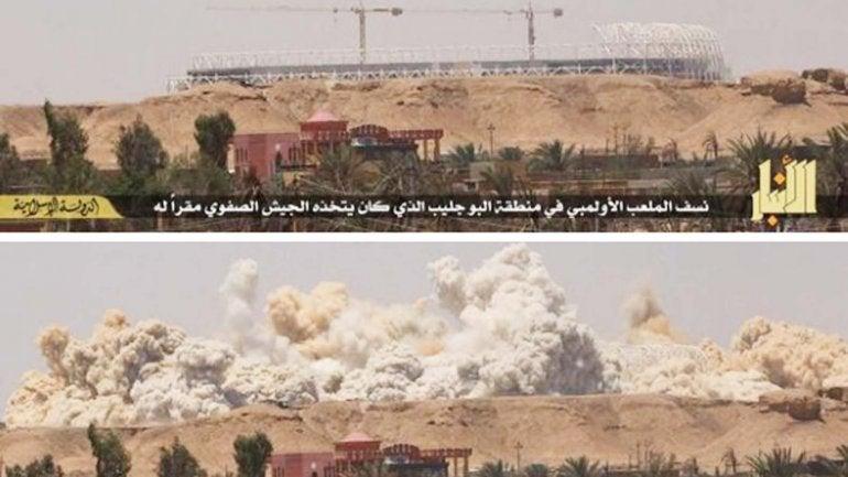 El Estado islámico dinamitó el estadio olímpico de Ramadi con 3.500 kilos de explosivos
