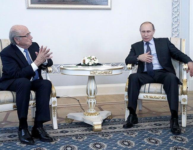 "Blatter a Putin: ""Decimos sí a Rusia"""