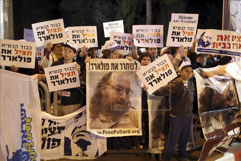 Espía israelí Pollard será liberado por EEUU el 21 de noviembre