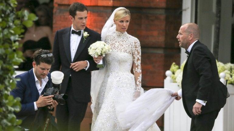 FOTOS: La accidentada boda de la hermana de Paris Hilton