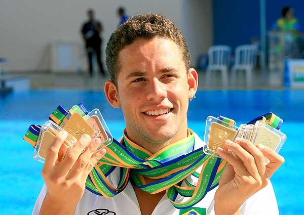 El brasileño Thiago Pereira es el máximo medallista en la historia panamericana