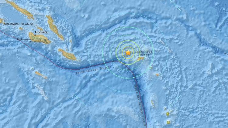 Terremoto de magnitud 6,9 frente a las islas Salomón, sin alerta de tsunami