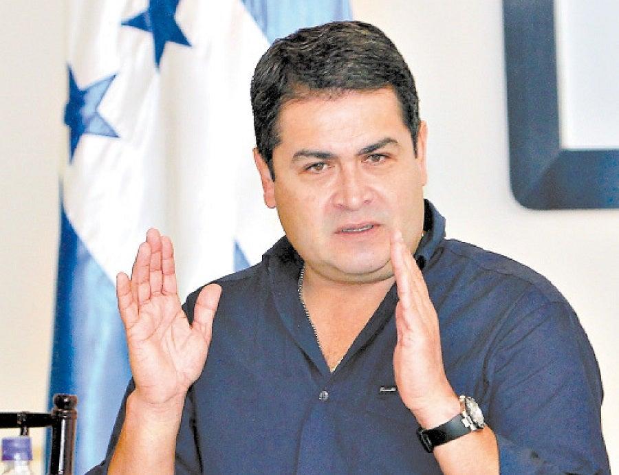 Presidente Hernández acusa que la oposición le hace daño al pueblo hondureño