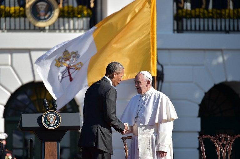 """Papa Francisco a Obama: vengo como """"hijo de una familia de inmigrantes"""""""