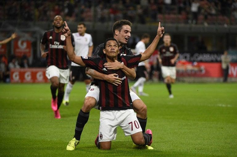 Carlos Bacca le da triunfo al Milan sobre el Palermo