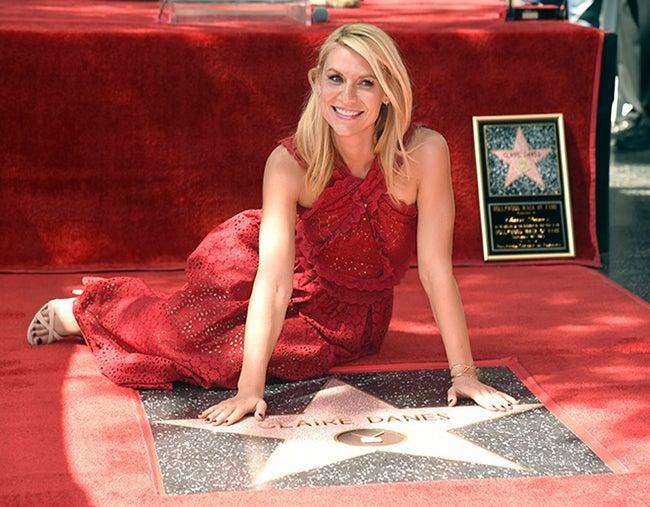 Claire Danes ya tiene su estrella