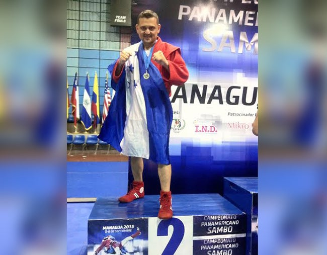 Hondureño gana Plata en Panamericanos de Sambo Ruso