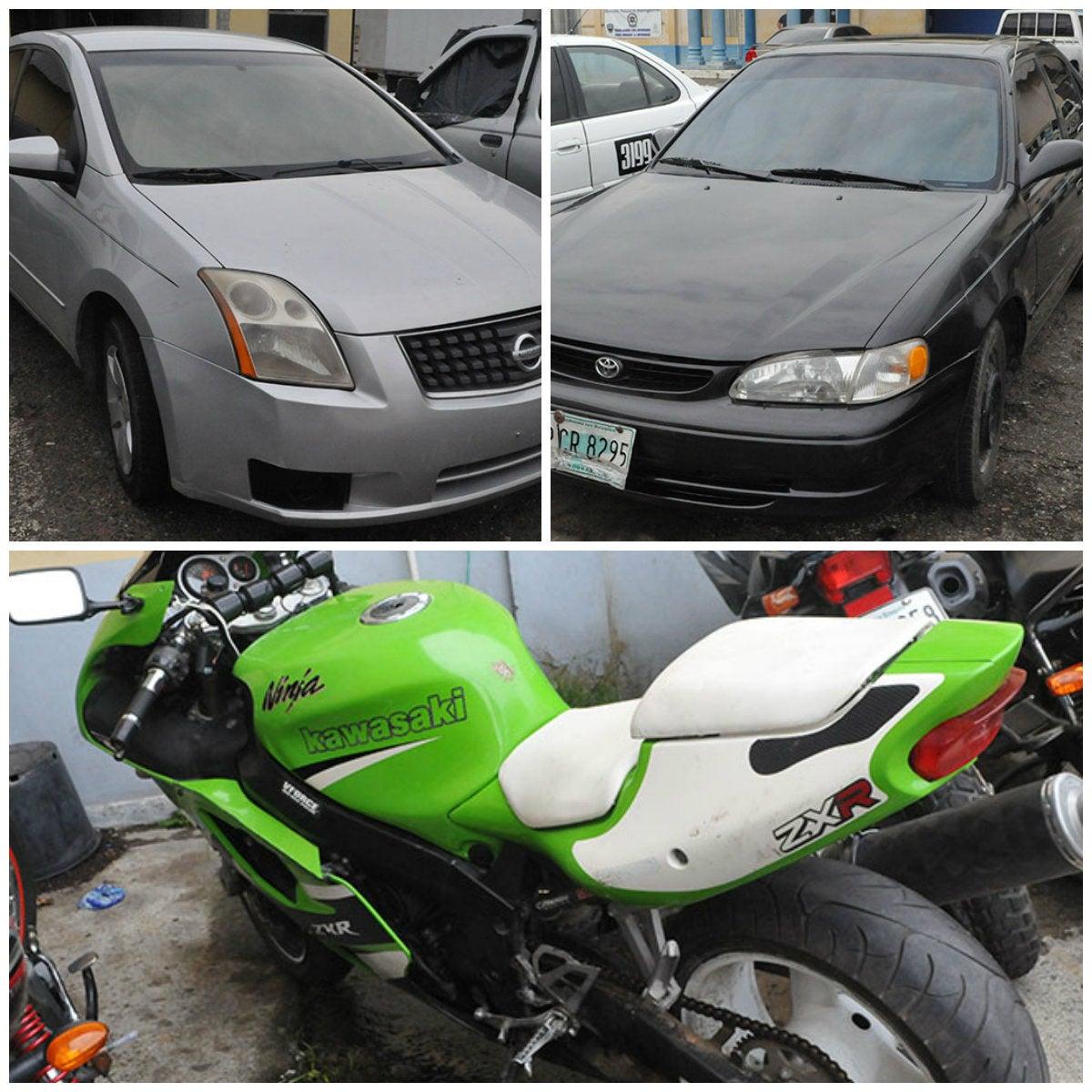 «Comprados por estafadores»: Decomisan dos carros y una moto
