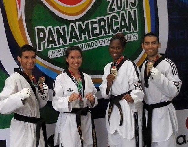 Taekwondoista logran medallas en Panamericano