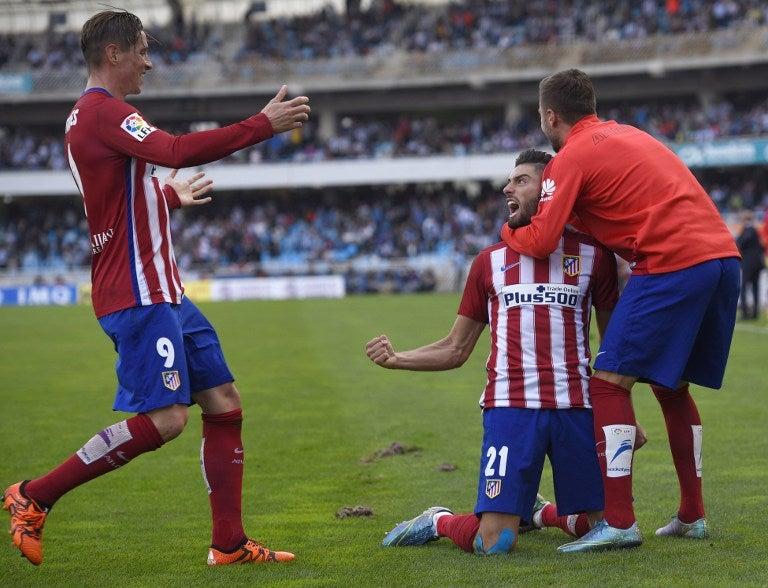 Atlético de Madrid vence a Real Sociedad con goles de Griezmann y Ferreira