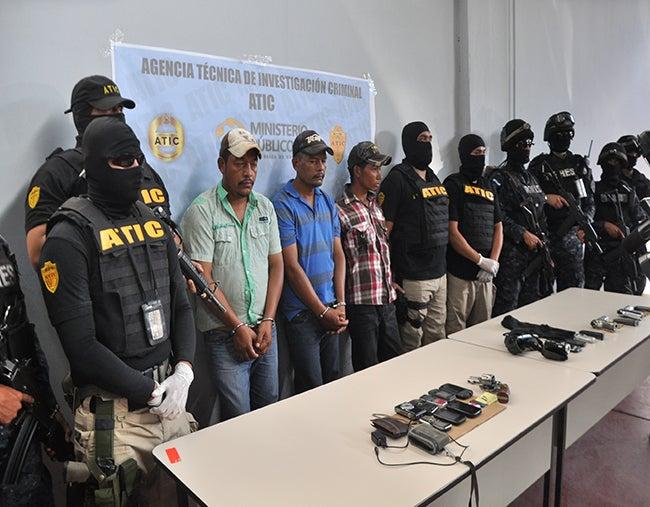 """Apresados en Olancho: A la PN 3 miembros de la banda """"Fuentes Alcántara"""""""