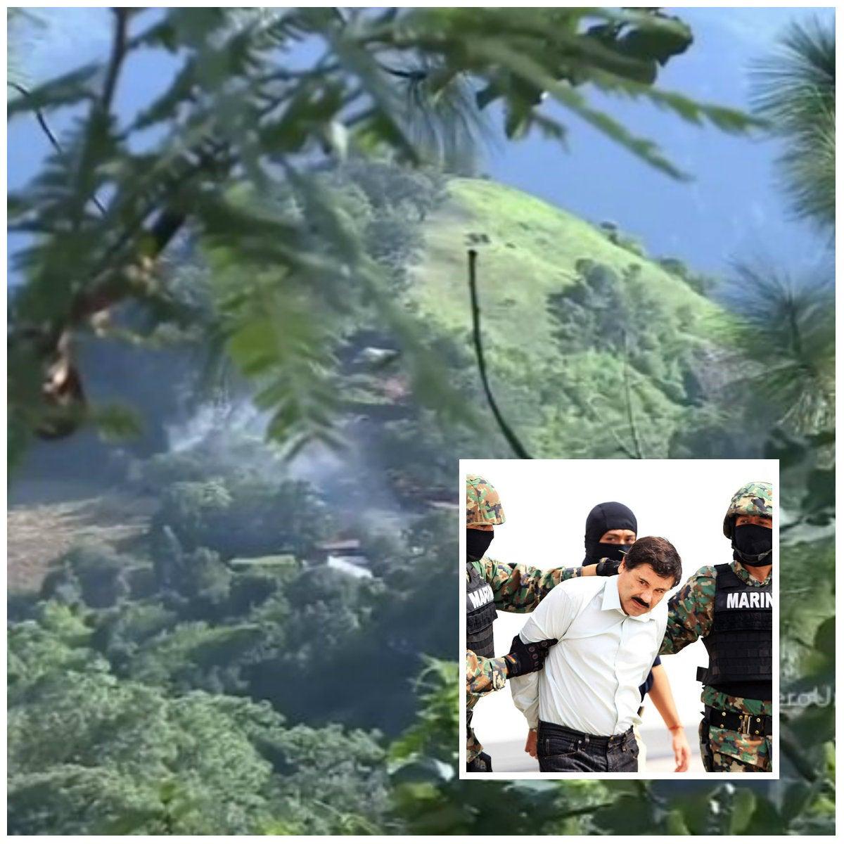 """Así era el escondite del """"El Chapo"""" Guzmán en una montaña de México"""