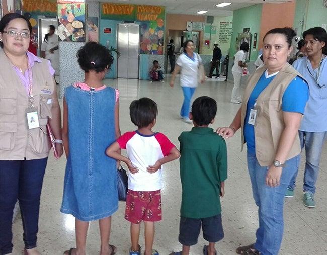 Honduras: Tres niños recupera la DINAF en el HEU