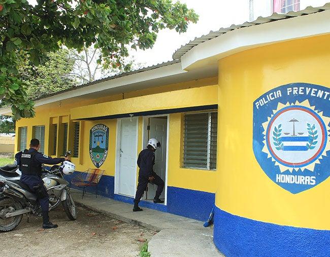 San Pedro Sula invierte en remodelar postas policiales