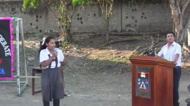 Escolar roba aplausos con mensaje sobre inseguridad ciudadana
