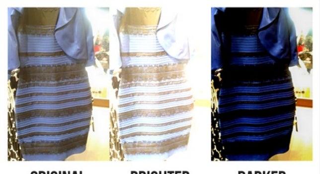 Este es el motivo científico por el que veías blanco y dorado el vestido