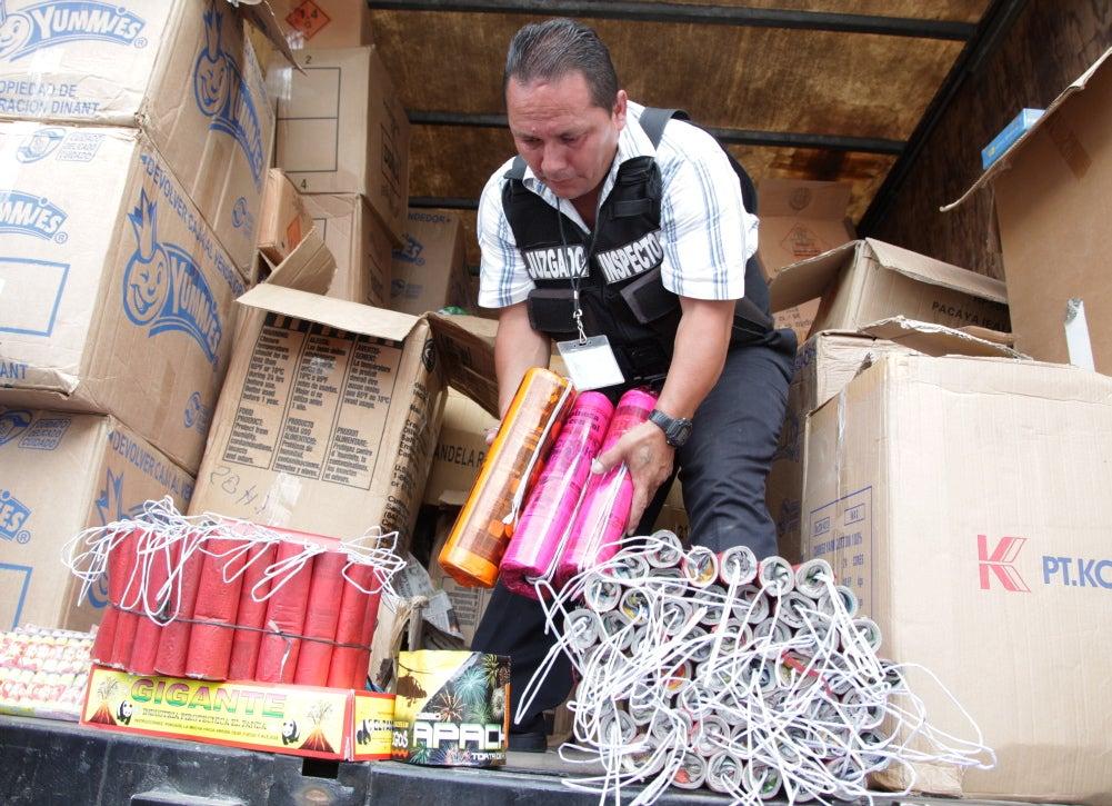 Decomisan cargamento de pólvora en la capital de Honduras