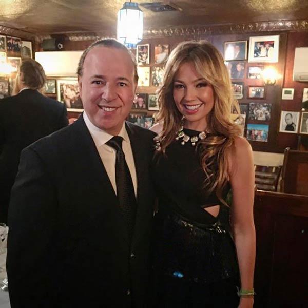Thalía presume el talento para cantar de Tommy Mottola