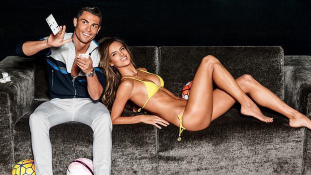 Las sensuales fotos de Cristiano Ronaldo y la modelo Alessandra Ambrosio