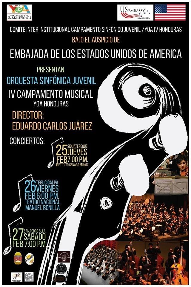 Embajada de EE UU invita a gran concierto de Orquesta Juvenil de las Américas