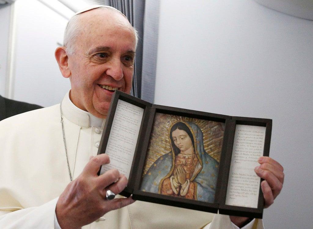 Morelia recibió a Francisco con un gran retrato 'vivo'