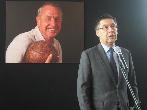 Bartomeu: «Lo que hoy en día es el Barça es imposible de entender sin Cruyff»