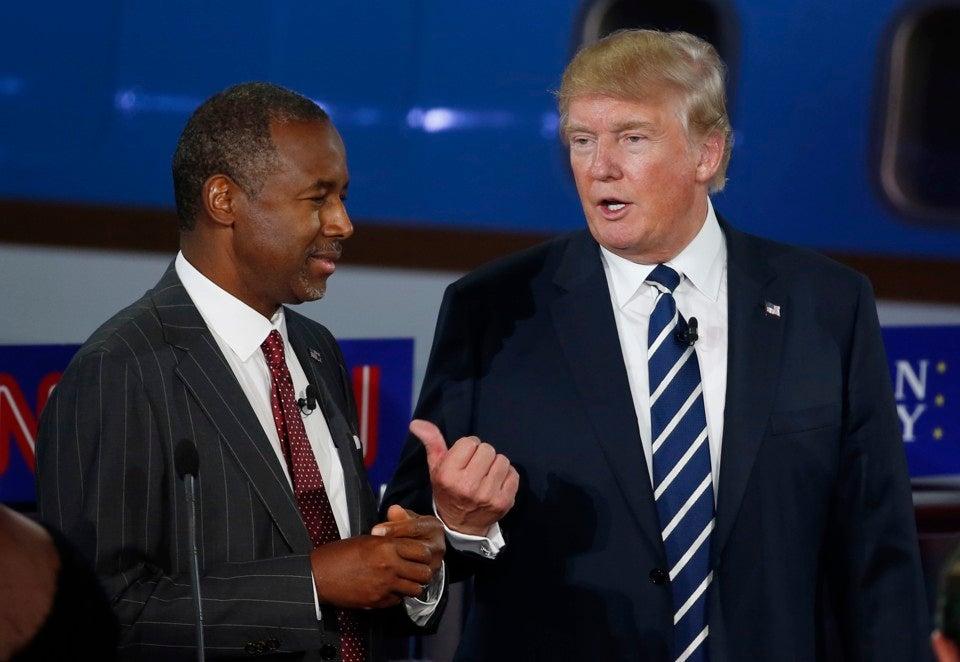 Ben Carson apoya la candidatura de Donald Trump