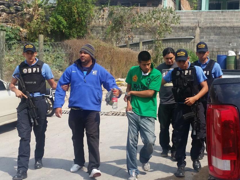 DPI captura a tres sujetos en varios puntos de la ciudad de Tegucigalpa