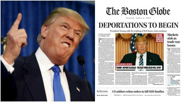 Trump: «Portada de The Boston Globe es estúpida y despreciable»