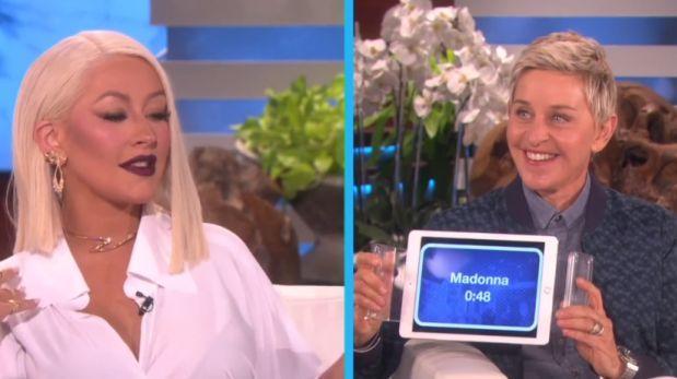 Christina Aguilera imitó a Beyoncé, Madonna y Rihanna