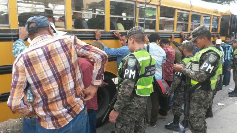 Intensos operativos en transporte urbano en Tegucigalpa