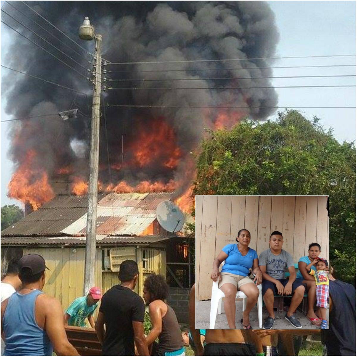 Madre soltera que se le quemó su casa pide ayuda al gobierno de Honduras