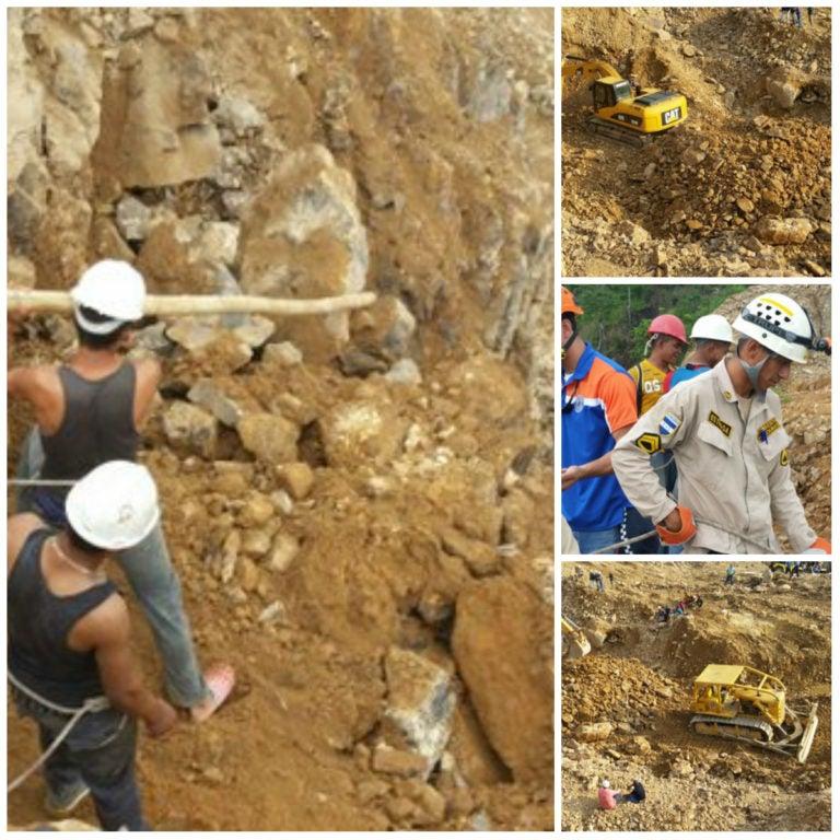Hoy continúa búsqueda de restos de mineros soterrados en la Cuculmeca