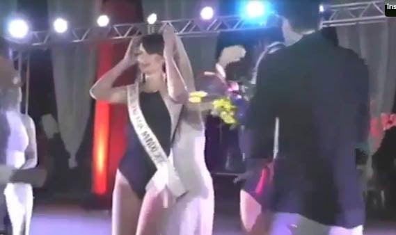¡Se repite el error! Le ponen la corona y se la quitan a concursante en Brasil