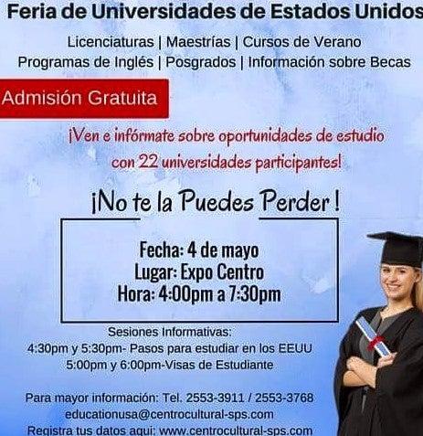 Feria de Educación será exhibida este miércoles en SPS