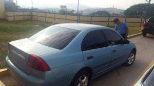 Auto con reporte de robo en Tegucigalpa