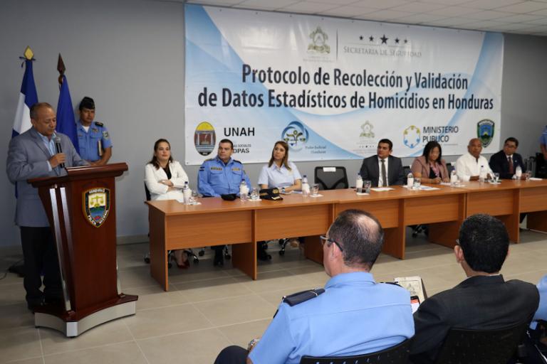 Secretaría de Seguridad y otras Instituciones validan datos de mortalidad en Honduras