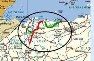 Honduras incluye el Corredor Turístico, zona marcada, como Inversión Extranjera.