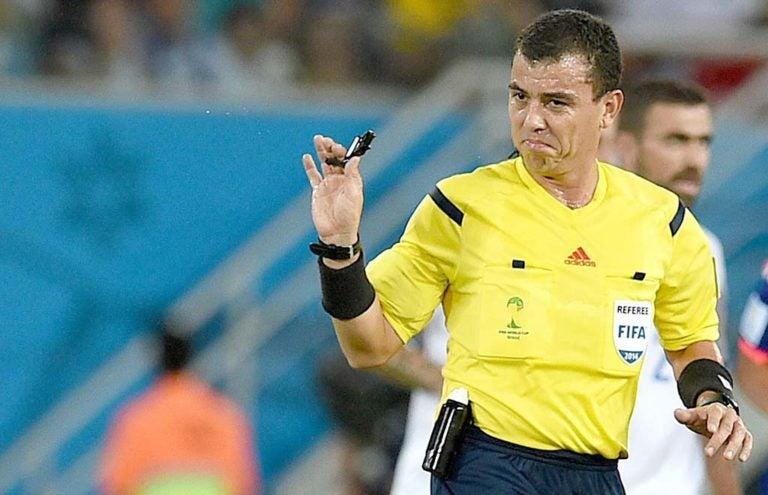Joel Chicas, arbitro de la Nieve y de la lluvia, fuertemente criticado
