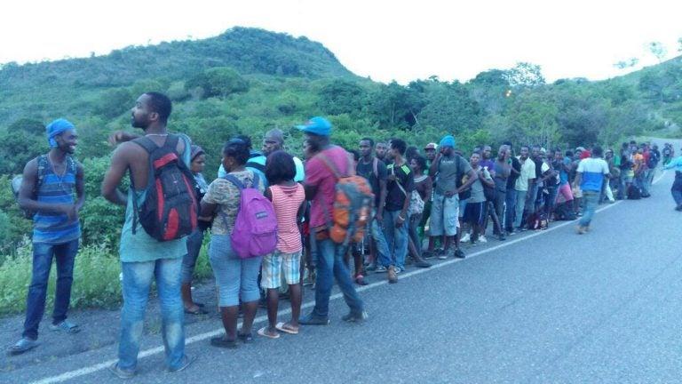 Cerca de 100 migrantes africanos fueron detenidos en la frontera con Nicaragua