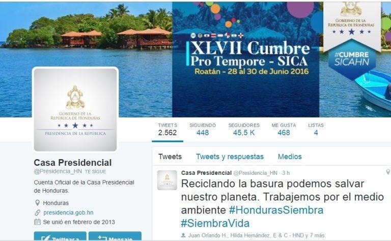 Ola de críticas por «tweet» erróneo de Casa Presidencial