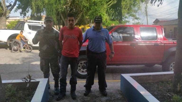 """Capturan a jefe de la banda """"Los Zabalas"""" en La Entrada, Copán"""