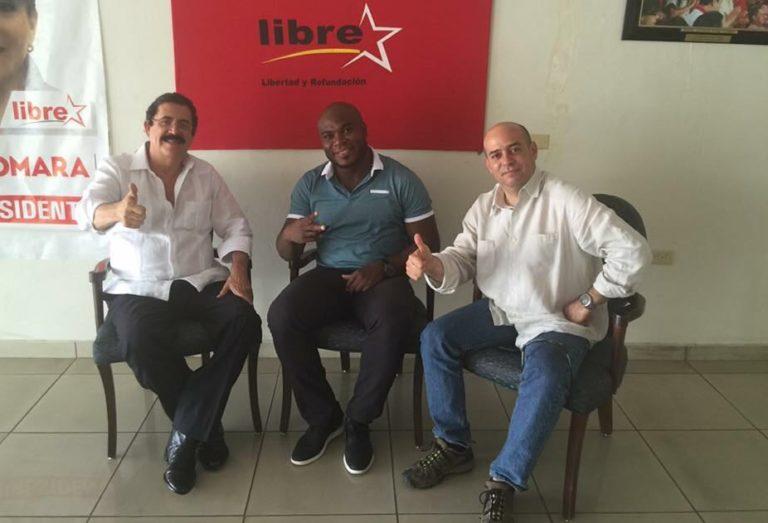Futbolistas buscan «rigio» en la política; Sammy Caballero hace calistenia en LIBRE