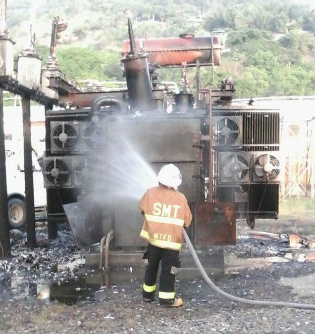 ENEE: Tacuazin provocó incendio en transformador