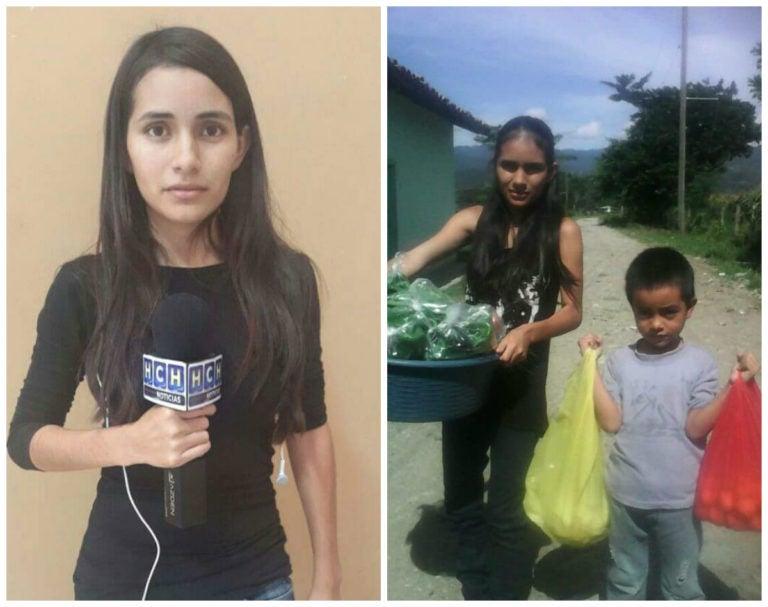 Reportera hondureña también vende verduras para sobrevivir