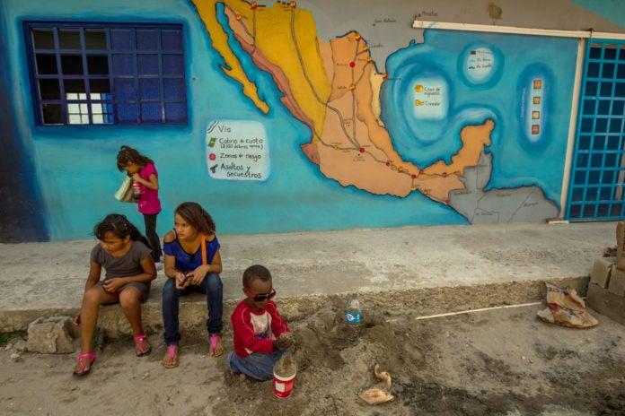 niños centroamericanos refugiados