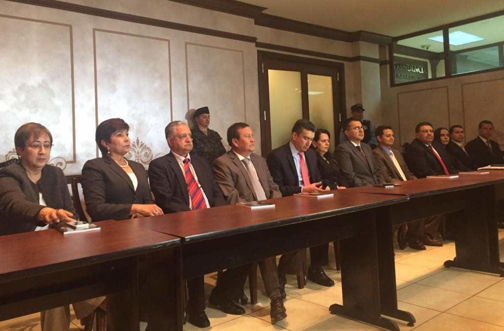 Reunión del pleno de la CSJ.