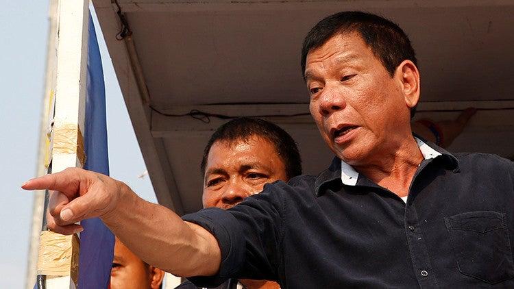 Presidente filipino sobre matanza de narcos: «No me importan los DDHH»