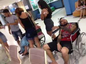 Veinte personas salieron heridas en el doble ataque