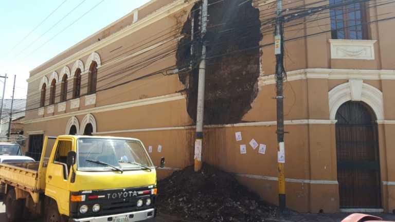 Tras denuncias, IHAH se pronuncia ante los daños en la Escuela de Bellas Artes